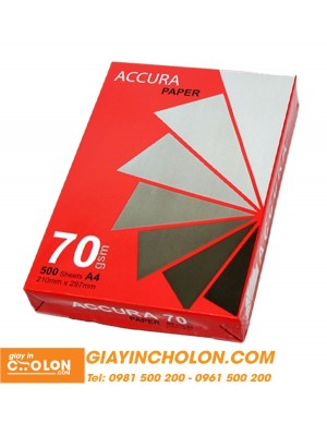 Giấy in Accura A4 70gsm
